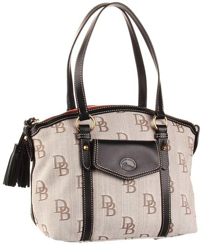 Dooney & Bourke - Florentine Front Pocket Satchel (Brown/Black Trim) - Bags and Luggage