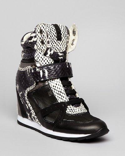 Rachel Zoe Lace Up Wedge Sneakers - Geri