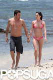 Bikini-clad Megan Fox showed off her figure on a beach date with Brian Austin Green in June 2011.