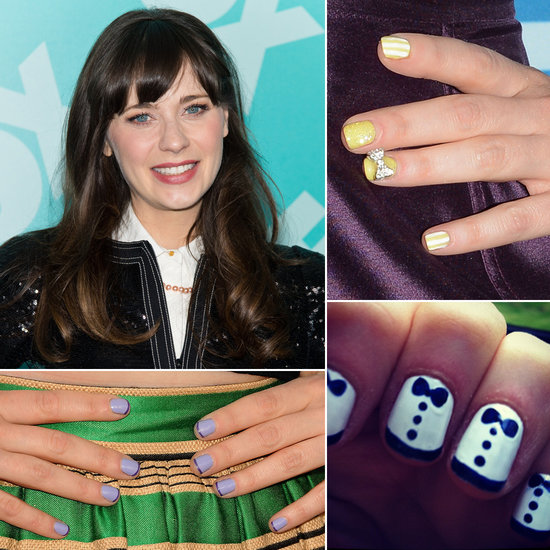 Take a Look at New Girl Zooey Deschanel's Top Nail Art Designs