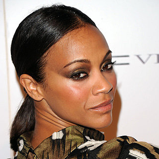 Celebrity Beauty: Zoe Saldana Hair & Makeup; Red Lipstick