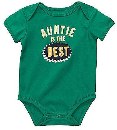 """Carter ́s Infant """"Auntie Is The Best"""" Bodysuit"""