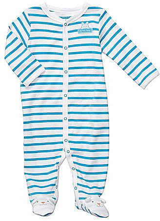 Carter ́s Newborn Striped Footed Pajamas