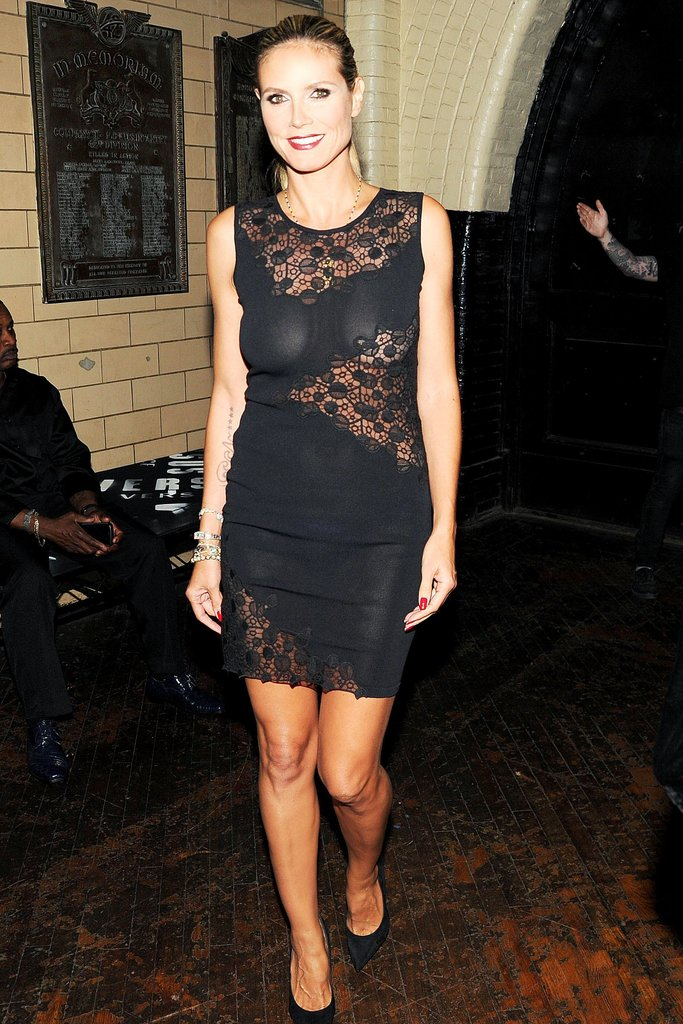 Heidi Klum at the JW Anderson for Versus launch party. Source: Billy Farrell/BFAnyc.com