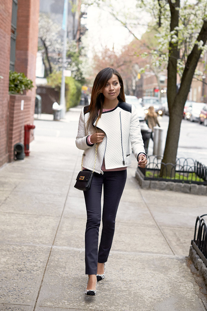 Throw this quilted jacket over anything that you already have in your closet.