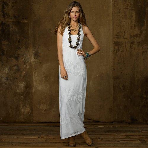 Denim & Supply Burnout Jersey Maxi Dress