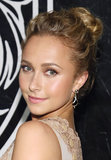 Hayden Panettiere's textured top knot is a great option for casual-cool brides. Her bold brows and golden eye shadow also make an alluring pair.