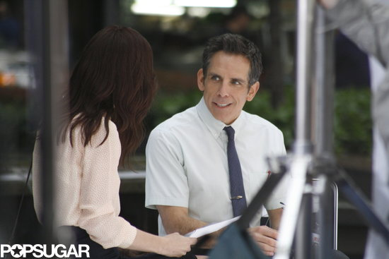 Ben Stiller and Kristen Wiig shot scenes for The Secret Life of Walter Mitty in NYC.