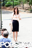 Kristen Wiig was on set on Thursday in NYC.