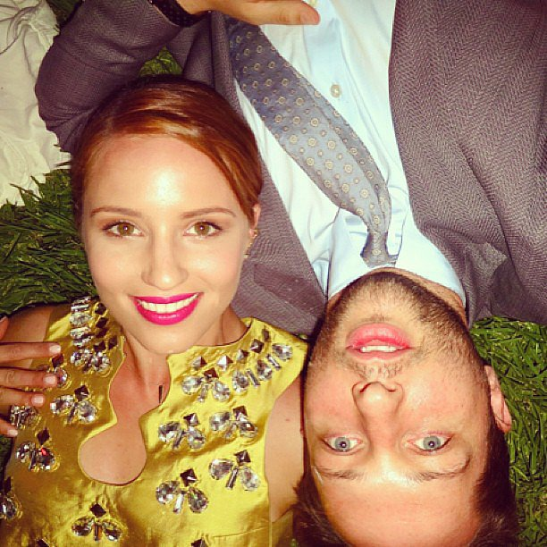 Derek Blasberg and Dianna Agron spent some quality time in the grass. Source: Instagram user derekblasberg