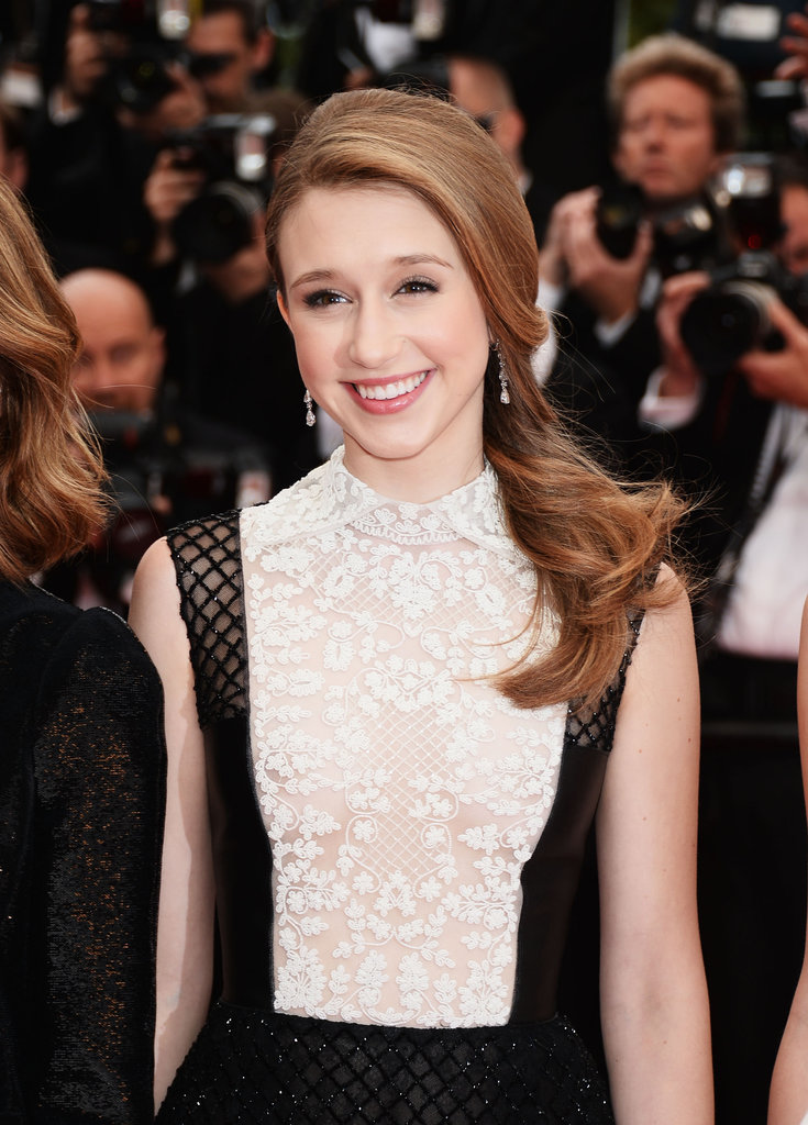 Actress Taissa Farmiga was also in Cannes for the premiere of The Bling Ring. She wore natural-looking makeup with a smooth, sideswept hairstyle.