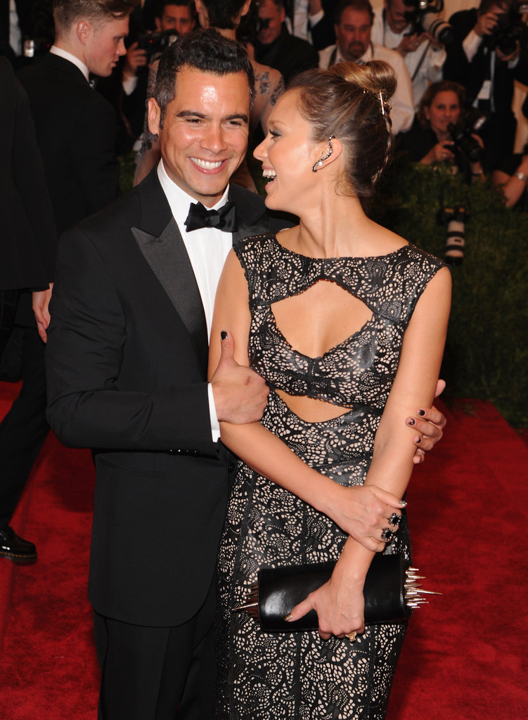 Cash Warren and Jessica Alba glowed together on the Met Gala red carpet in May 2013 in NYC.
