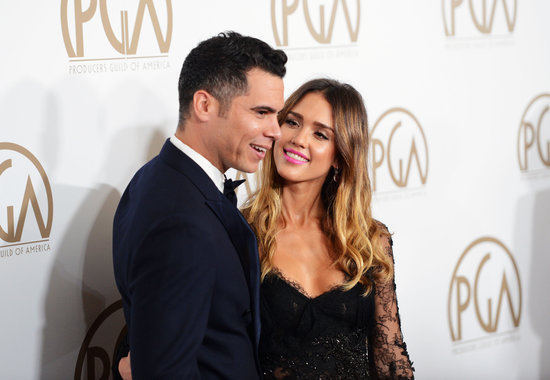 Jessica Alba had her eyes planted on Cash Warren during the Producers Guild Awards in LA in January 2013.