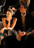 Cash Warren joined Jessica Alba for NYC Fashion Week in February 2012.
