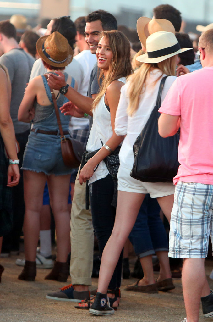 Cash Warren and Jessica Alba took in the Coachella scene in Indio, CA, in April 2013.