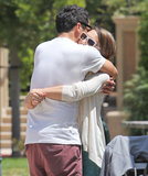 Jessica Alba and Cash Warren hugged it out at an LA park in May 2012.