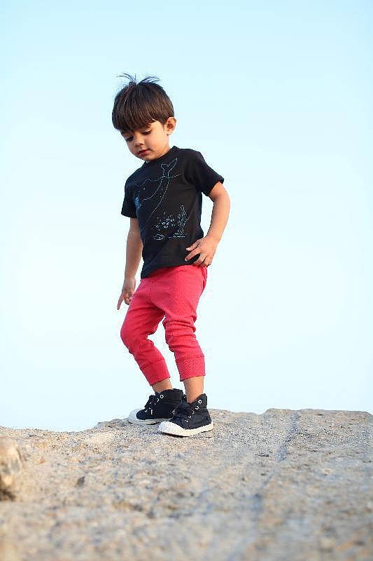 Frankie Whale T-Shirt ($32) and Lifeguard Long John Legging ($29)