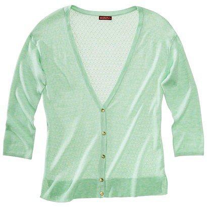 Merona® Women's Pointelle Cardigan Sweater - Green