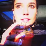Rhiannon Fish loves her freshly-squeezed carrot juice. Source: Instagram user rhiannonmfish