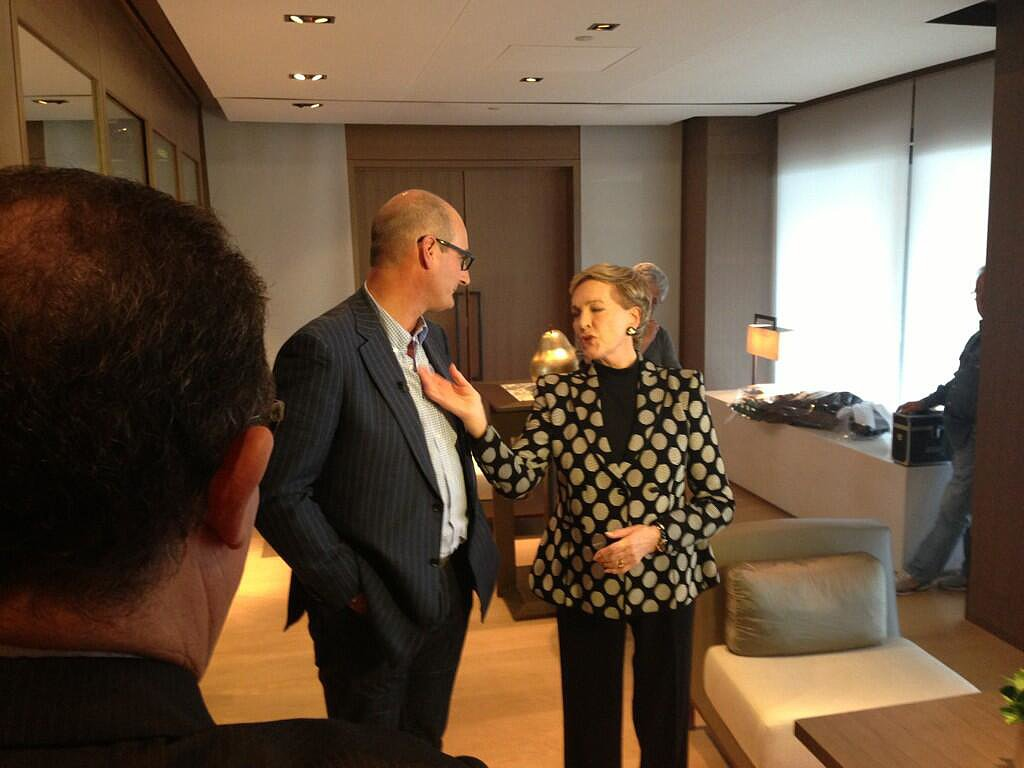 "David ""Kochie"" Koch compared meeting Julie Andrews to meeting royalty. Source: Twitter user kochie_online"