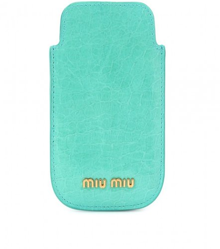 Miu Miu CROCO-EMBOSSED IPHONE CASE