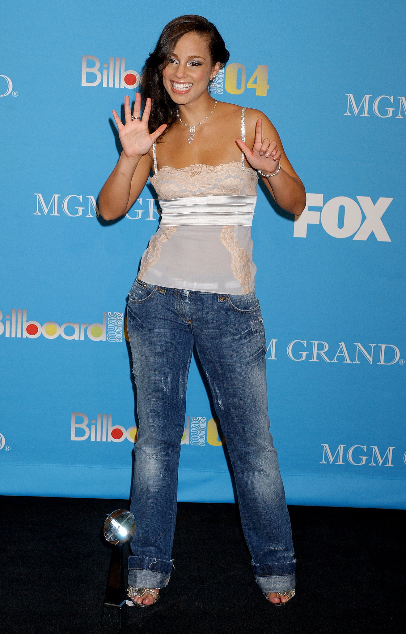 Alicia Keys got excited about the seven awards she picked up in December 2004.