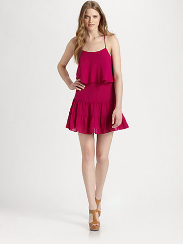Haute Hippie Silk Racerback Ruffle Dress