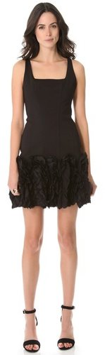 Robert rodriguez Ruffled Hem Dress