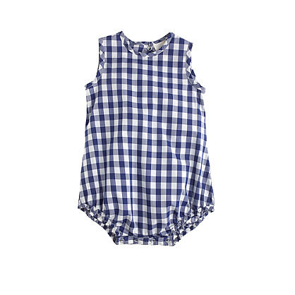 "Gingham is so ""in"" for Summer, and this one-piece ($48) would work for either a baby boy or girl."