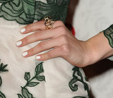 White nails are right on trend. Why not try the look for your wedding day, like Emmy Rossum did here?