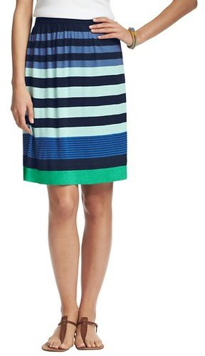 Mixed Stripe Jersey Skirt
