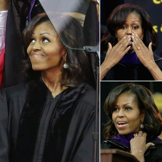 Michelle Obama Doles Out Kisses and Advice to Graduates