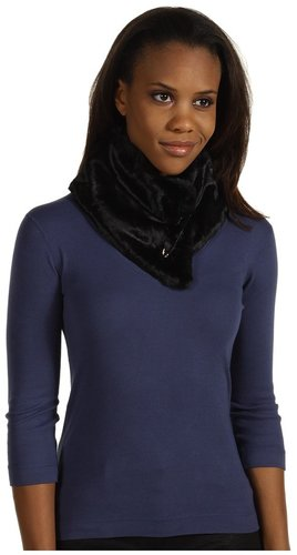 Calvin Klein - Safety Pin Faux Fur Collar (Black) - Accessories