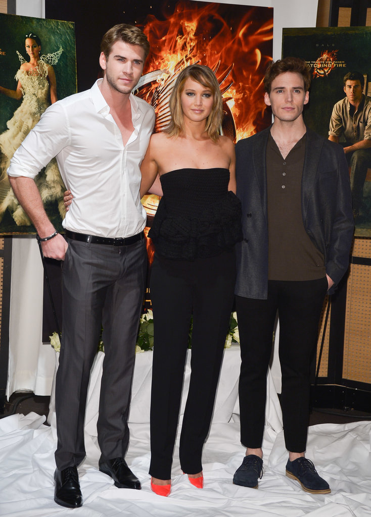 Liam Hemsworth, Jennifer Lawrence, and Sam Claflin attended a photocall for Catching Fire at the Majestic hotel in Cannes. In case you missed out, see all the pictures from the Cannes Film Festival.