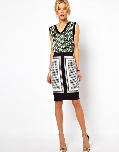 ASOS Pencil Skirt in Scarf Print