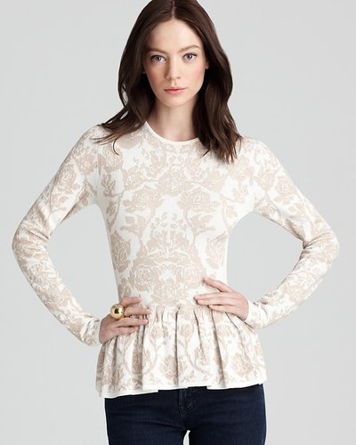 Quotation: Torn by Ronny Kobo Top - Natalie Floral Peplum