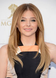 Chloë Moretz added some sexy extensions for a voluminous blowout on the red carpet.