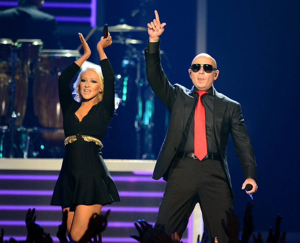 Christina Aguilera and Pitbull performed together.