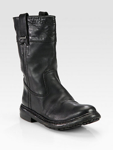 Burberry Gulston Brit Leather Boots