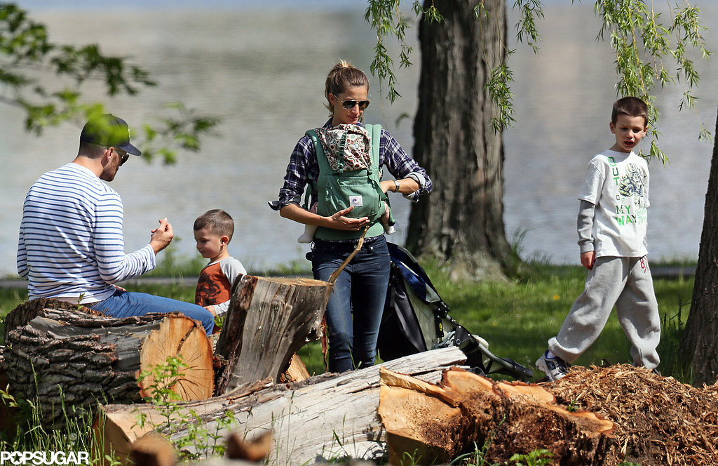 Gisele Bündchen and Tom Brady had a day at the park with their kids in Boston.