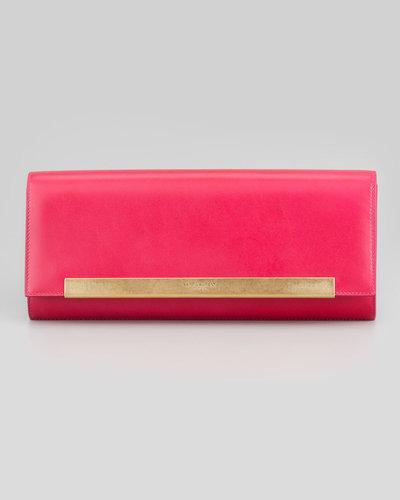 Saint Laurent Lutetia Flap Clutch Bag, Pink