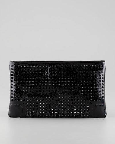 Christian Louboutin Loubiposh Studded Clutch Bag, Black
