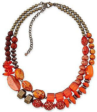Aris by Treska 2-Row Beaded Necklace