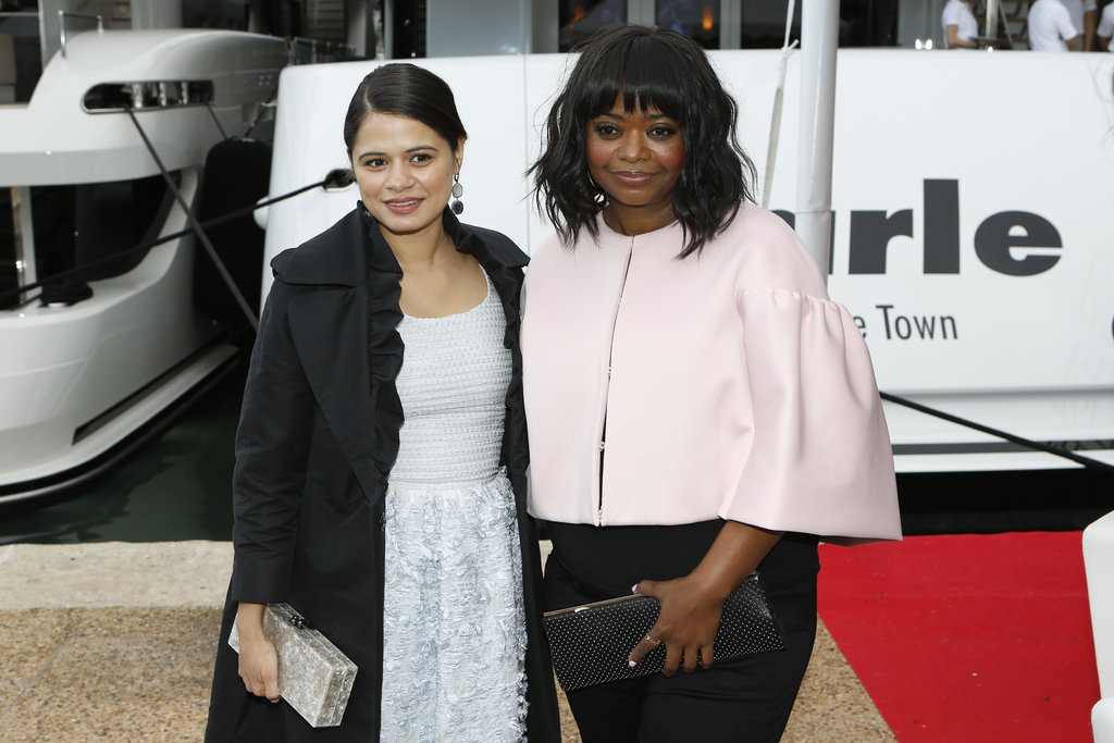 Melonie Diaz and Octavia Spencer stopped for a photo.