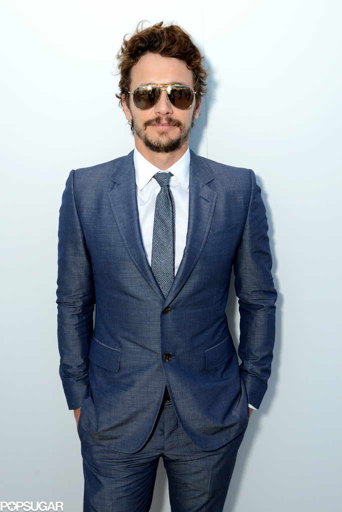 James Franco donned a blue suit.