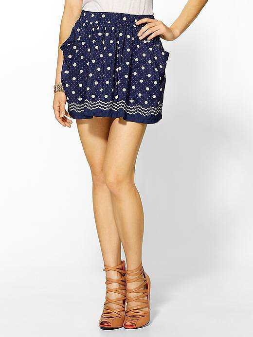 How cute are polka dots? I love them! This skort is easy to style and can easily be taken from day to night. Pair it with a simple white tee and sandals for daytime or a solid black top with heels for an evening out with friends.  For only $64, you can get a lot of use out of this one! See more Style Shortcuts