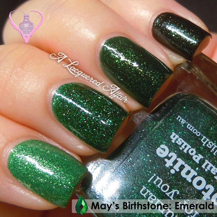 Emerald ombré for #SGSwatchFest/ #PolishTogether
