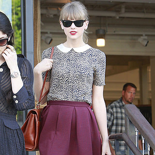 Taylor Swift Wearing Peter Pan Collar Top