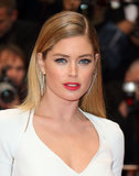 Model Doutzen Kroes stunned at the premiere of Jimmy P. (Psychotherapy of a Plains Indian) in a white gown, which she wore with a sleek hairstyle and a bold lip, L'Oreal's Colour Riche Luminous Lipcolour in British Red ($10).