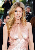 "Doutzen Kroes attended the Le Passé premiere wearing a sparkling blush gown, which she paired with a ""no-makeup"" makeup look. First, her skin was perfected using L'Oreal Magic Skin Beautifier BB Cream in Medium ($11), with the brand's True Match Super-Blendable Blush in Tender Rose ($11) on her cheeks. A touch of color on the lips, Colour Caresse Wet Shine Stain in Pink Resistance ($10), completed her luminous look."